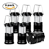 Amazon Price History for:6 Pack Camping Lantern, xtf2015 Super Bright Portable Outdoor LED Lantern with Magnet Base, Water Resistant Camping Lamp Suitable for Hiking, Fishing, Emergency (Black, Collapsible)