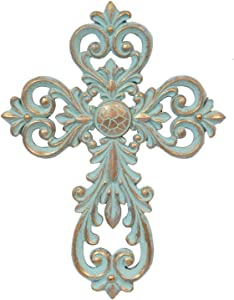 BestGiftEver Patina Wall Cross 13.5""