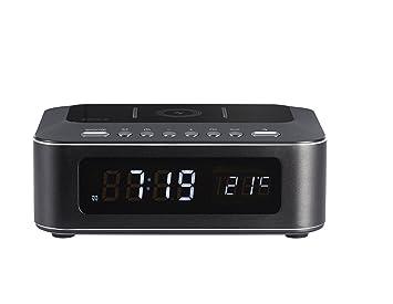 Thomson CR400iBT - Radio Despertador Negro Bluetooth, con Cargador USB e inducción: Thomson: Amazon.es: Electrónica