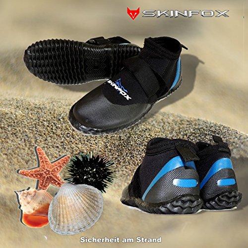 Skinfox Beachrunner Kinder Badeschuhe 3.0 mm Neopren Wassersportschuhe blau Gr.XS-XL See-Igel-sicher