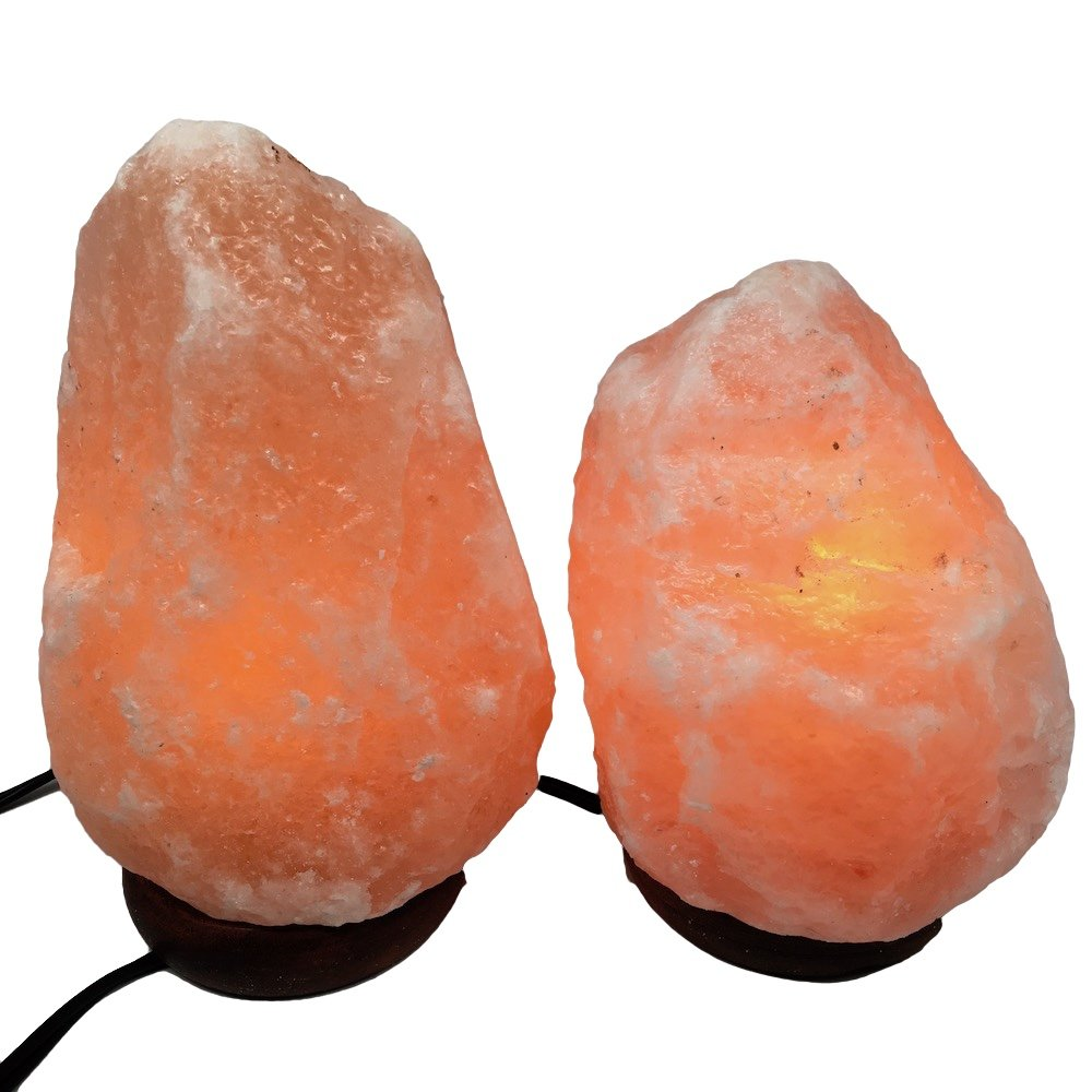 2x Himalaya Natural Handcraft Rough Raw Crystal Salt Lamp,6.75''-8.5''Tall, X056, Exact Item Delivered