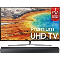 Samsung UN55MU9000 55-Inch 4K Ultra HD Smart LED TV (2017 Model) + HW-MS750 Sound+ Premium Soundbar + 1 Year Extended Warranty