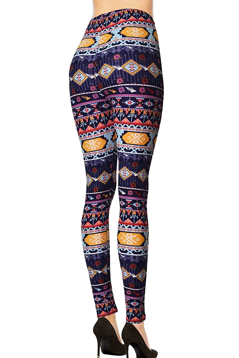 fc80c4838e9e0 VIV Collection Updated Popular Printed Brushed Buttery Soft Leggings Regular  and Plus 40+ Designs List 5 - -: Amazon.co.uk: Clothing