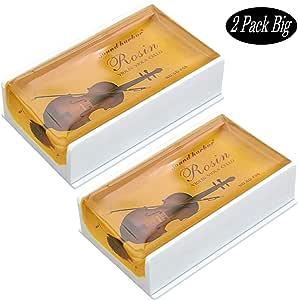 Rosin Violin Rosin 2 pack Big size Rosin Low Dust Natural Rosin for Violin Cello Viola Bows (Yellow)