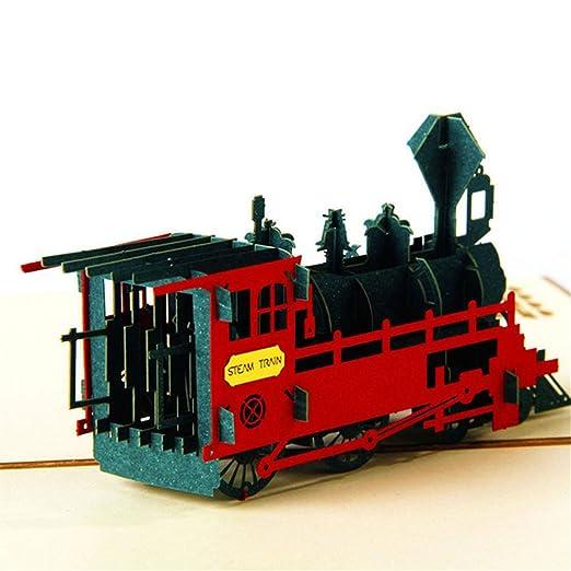 Angelliu - Tarjeta de felicitación de Boda 3D con Tren, diseño ...