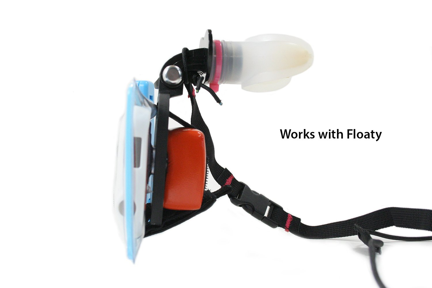 Action Mount - GoPro Style Mouth Mount for use with GoPro Cameras. Capture Footage While Kayaking, SUP, Wakeboarding and Surfing (with Floaty, Neck Lanyard).