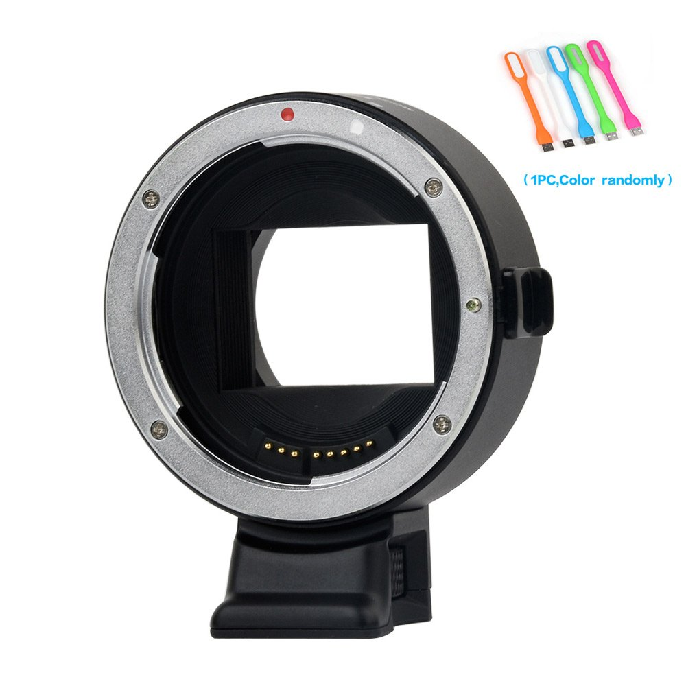 VILTROX EF-NEX IV Auto Focus Lens Mount Adapter for Canon EF/EF-S Lens for Sony A9 A7S A7II A7SII A7RII A7R A6300 support Full-frame PDAF CDAF by VILTROX