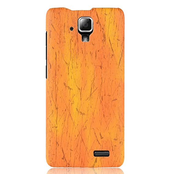 more photos 63679 8aef7 Amazon.com: for Lenovo A536 Case,PU Leather Case Back Cover Wood ...