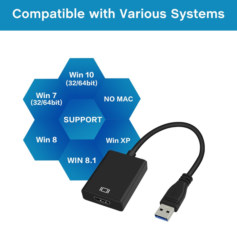 Amazon.com: USB 3.0 to HDMI, HD 1080P Video Graphics Cable Adapter ...
