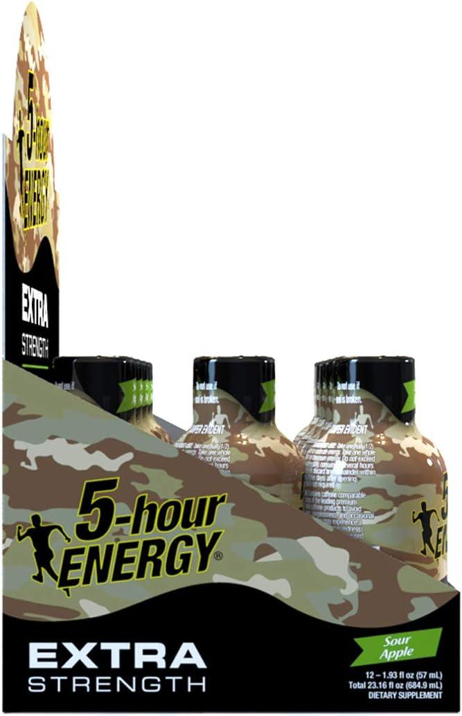 5-hour ENERGY ® Shot, Extra Strength, Sour Apple, 1.93 oz, 2 - 12 Packs: Health & Personal Care