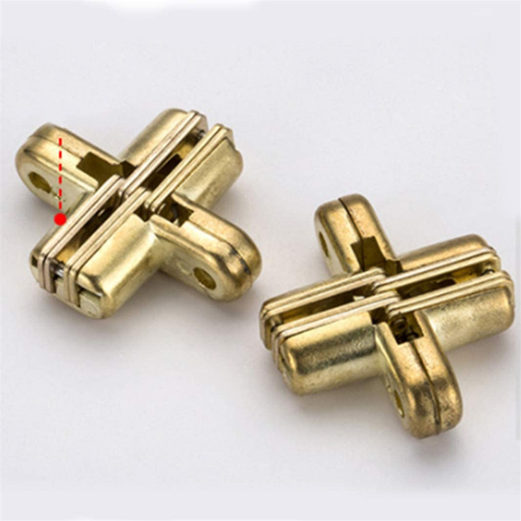 Sperrins Charni/ère invisible de baril en laiton cylindrique invisible cach/ée cuivre 8mm de charni/ère