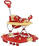 LuvLap Comfy Baby Walker with Rocker - Red