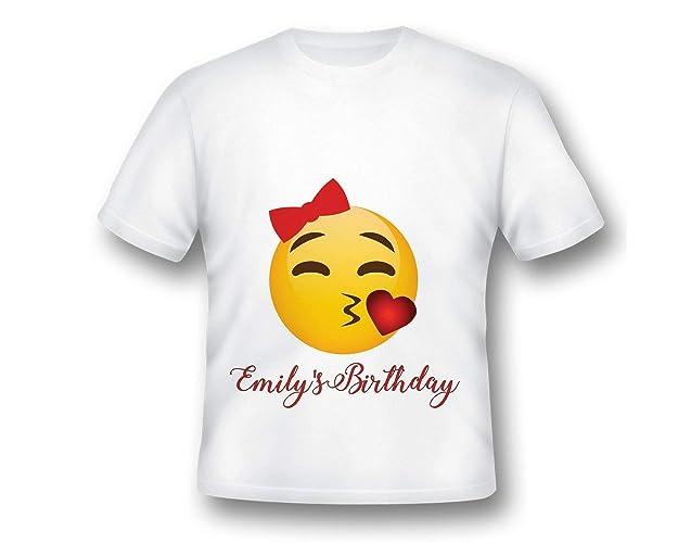 Custom Emoji Birthday T Shirt Tee Printed Party
