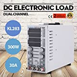 VEVOR Adjustable DC Electronic Load 80V 30A Highly Precise Economical Dual Channel 300W Portable DC Load Tester Controller for LED Drivers Switching Power Supply Power Adapter