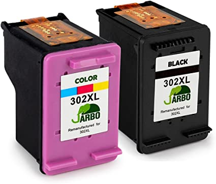 JARBO Remanufacturado HP 302 XL Cartuchos de tinta (1 Negro, 1 tricolor) Compatiable con HP DeskJet 1110 1115 2130 2132 3630 3632 3633 3635 HP OfficeJet 3830 3831 3832 4651 4652 4654 HP Envy 4520 4521 4522 4526 4527 4528: Amazon.es: Oficina y papelería