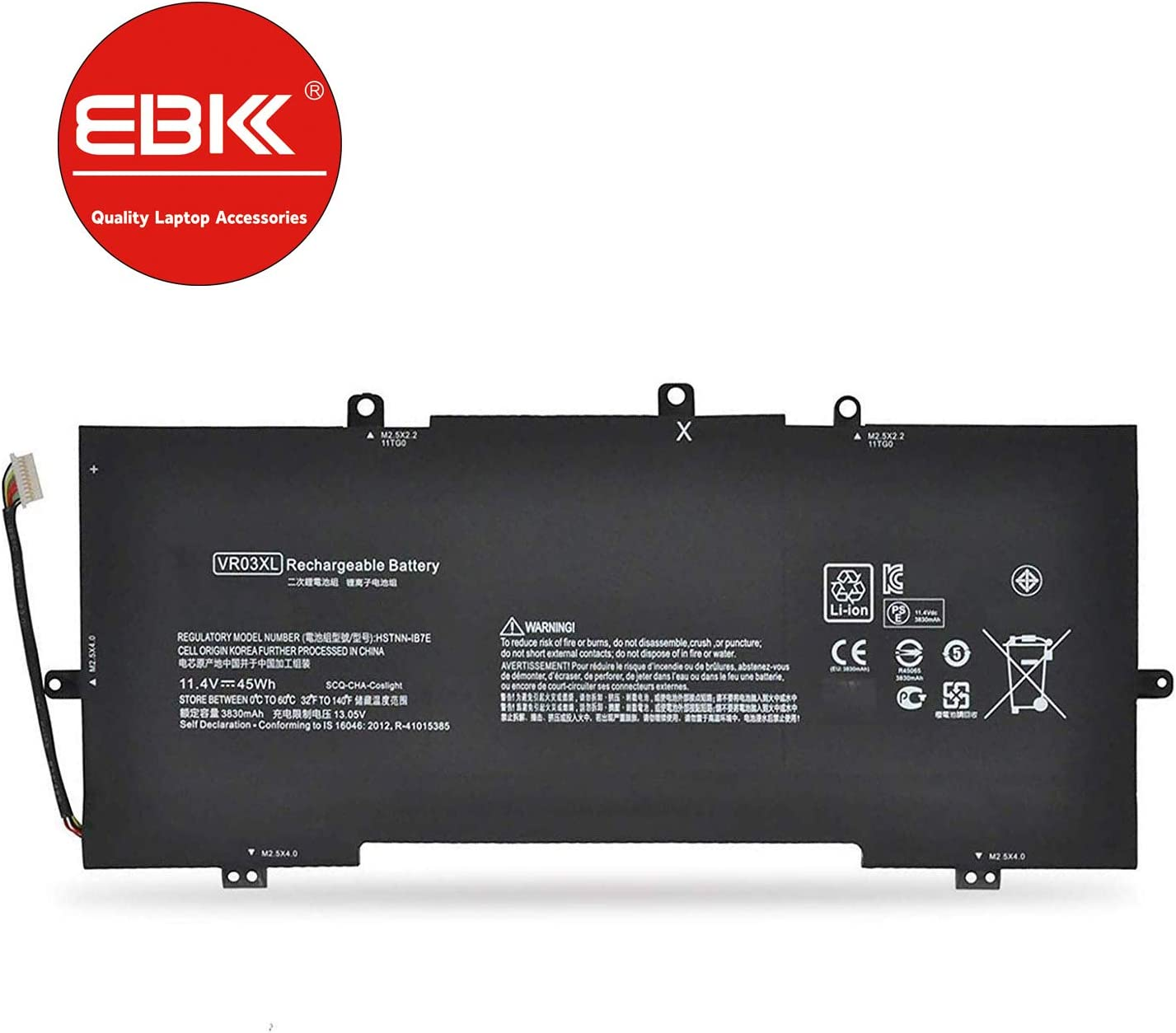 EBKK 45Wh VR03XL VR03 Battery for HP Envy 13 Series 13-D000 13-D000NA 13-D046TU 13-D023TU 13-D024TU 13-D025TU 13-D040WM 13-d002ng 13-d003ng 13-d004ng HSTNN-IB7E TPN-C120