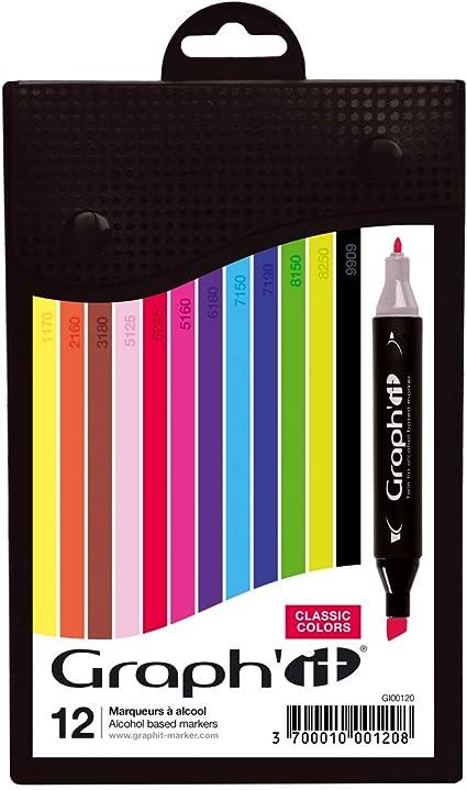 Illustrazioni e Pittura Pennarelli da Disegno Schizzi 40 Pennarelli ad Alcool di Colorya Pennarelli a Doppia Punta Astuccio Incluso per Libri da Colorare per Adulti Colorya Pennarelli per Manga