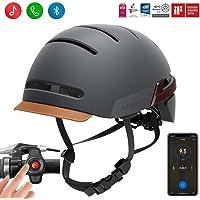 Lival Fahrradhelm mit automatischem Sensor, LED, Blinkerlicht, Verbindung über Bluetooth, zertifizierter bequemer Fahrradhelm