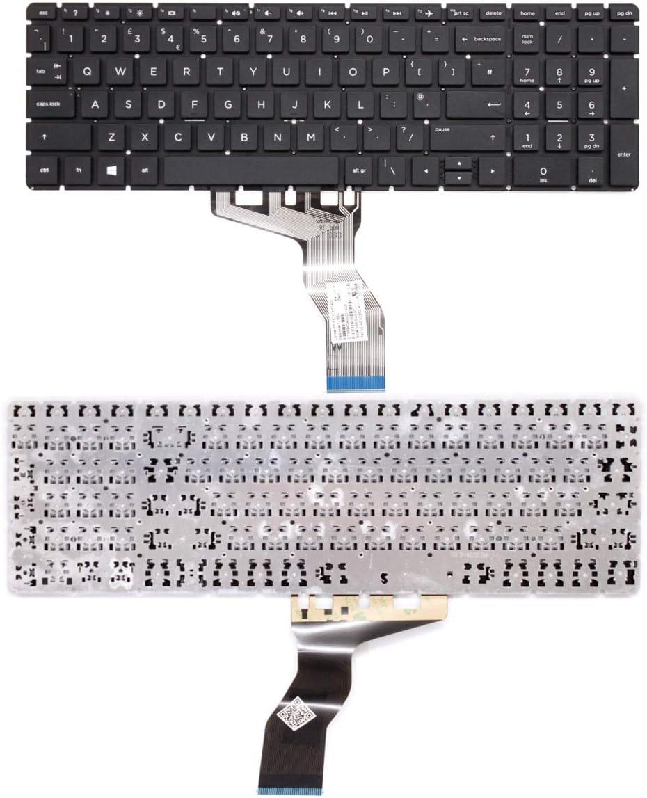 Wikiparts* New Replacement Keyboard For HP Compaq Listed Models: 15-BW539UR 15-BW540UR 15-BW549UR 15-BW545UR 15-BW546UR 15-BW550SA Laptop UK Layout Keyboard 15-BW550NA 15-BW547UR