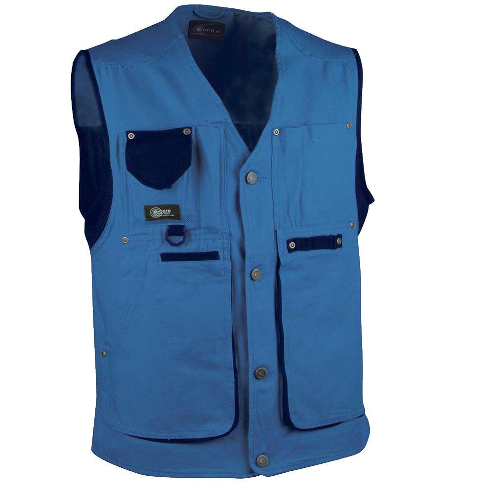 Cofra V055-0-02.Z48 GiletZurich Taille 48 bleu clair//noir