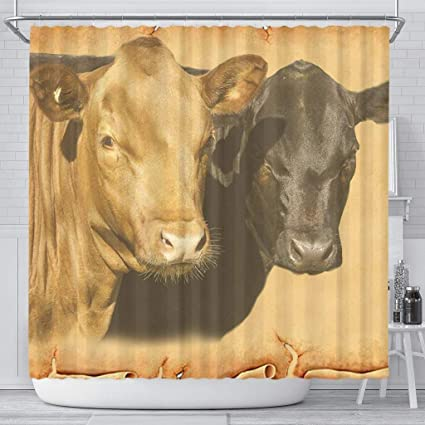 Amazon Simply Cool Trends Dexter Cattle Cow Print Shower