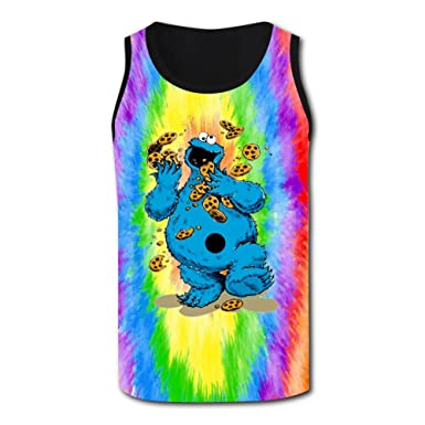 809162d5 Amazon.com: Cookie Monster Tank Top for Men, Sleeveless T-Shirts Muscle  Classic Tee: Clothing