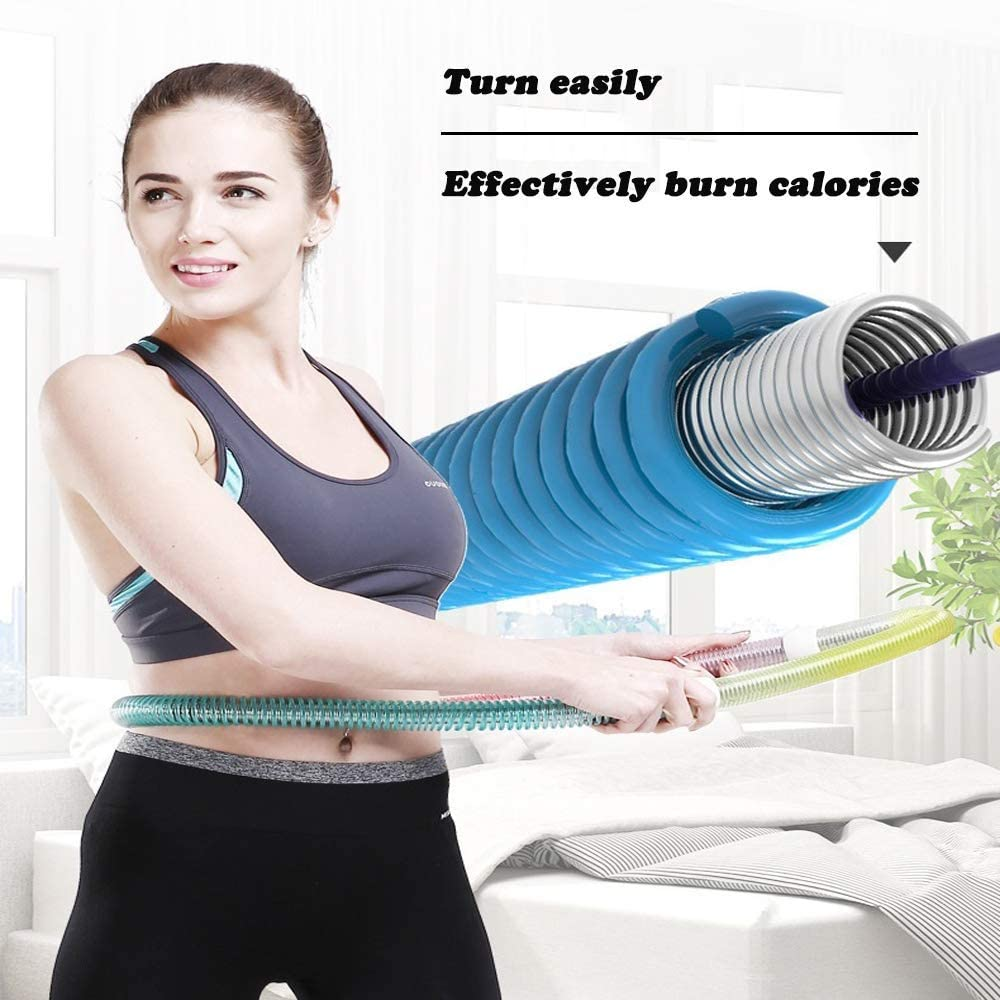 for Exercise Weight Loss /& Burning Fat Easily Carry Travel Hoola Hoop Premium Quality /& Soft Spring Hula Hoops YAPN Hula Hoop for Adults
