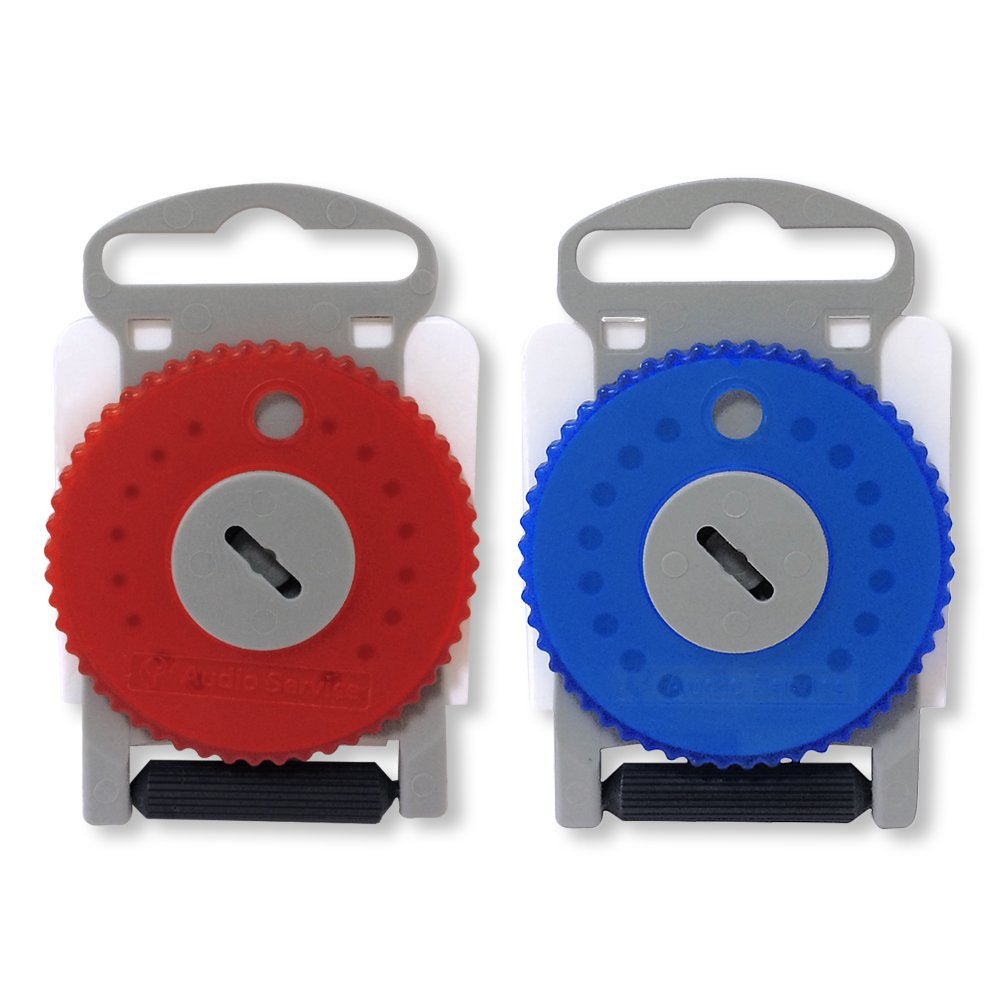 HF4 Wax Guard Wheel for Hearing Aids- Hearing Aid Wax Filters Earwax Traps (Red&BLue)