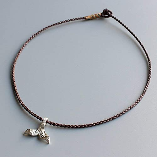 850b1970a6 Image Unavailable. Image not available for. Color  TALE Lucky Rope Bracelet  and Necklace Choker Tibetan Buddhist Hand Braided Knots ...
