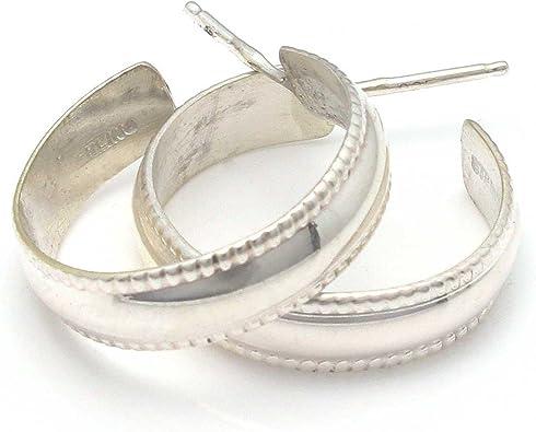 Navajo Tahe Sterling Silver and Gold Filled Post Hoop Earrings