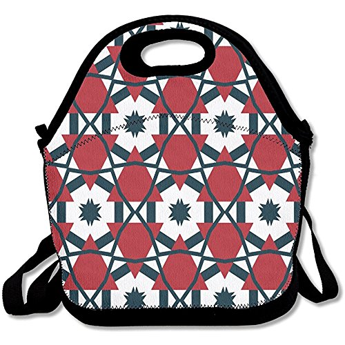 Splicing Design - Lunch Bag For Men Lunch Bag Lunch Box Food Bag American Flag Space Design Sense Splicing Geometry Red Triangle Fashion