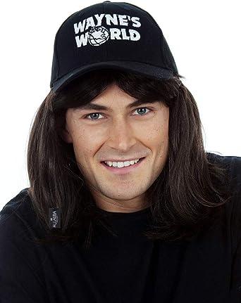 or Black Fancy Dress Long Wig for Waynes World AWS Mullet Wig Pulp Fiction