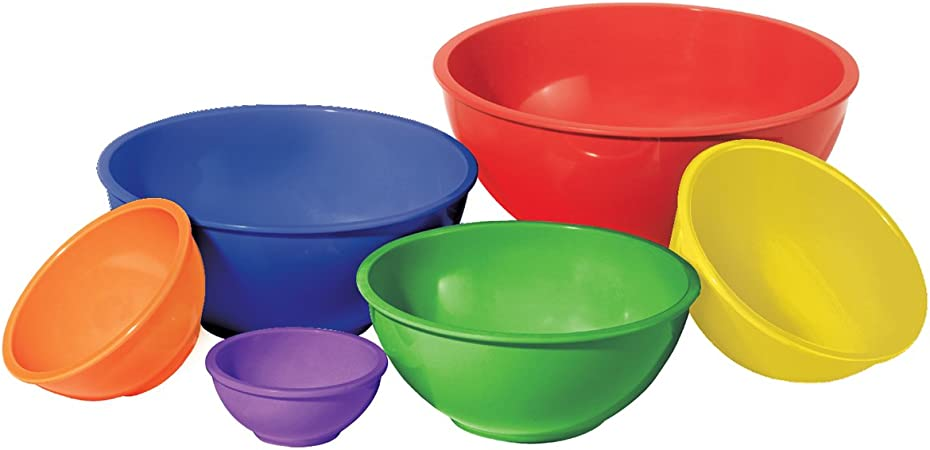 6 Color Melamine Bowls Bowl Skidproof Striated Christmas Dinner Kitchen Bowl