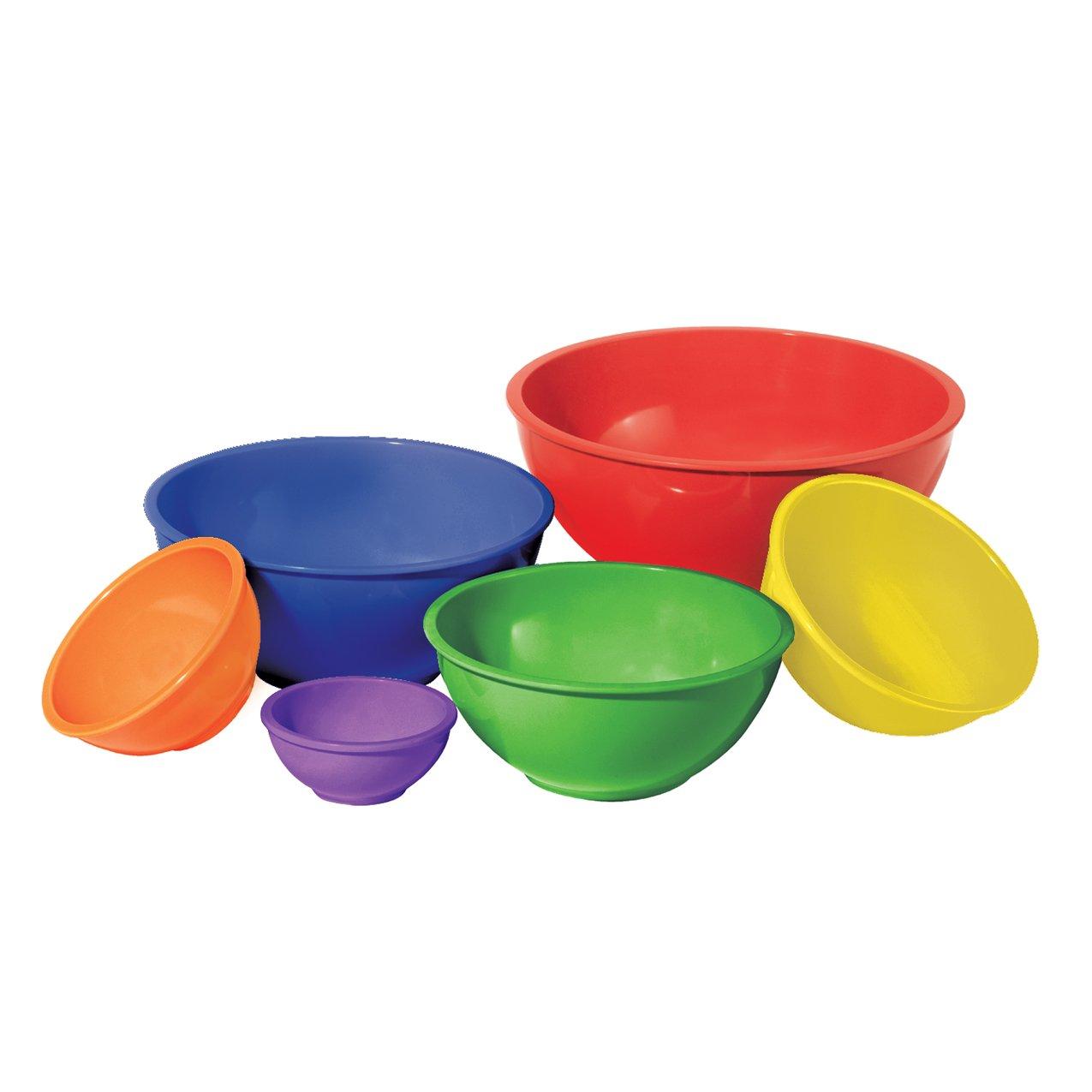 Oggi (5278) Melamine 6-Piece Mixing Bowl Set, Assorted Color
