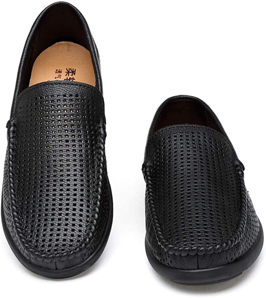 YLY Shoes Mens Comfortable Loafer Flat Heel Wear Resistance Round Toe Moccasins Shoes Dress Shoes Bussiness