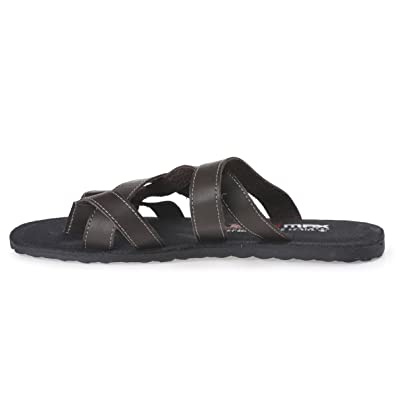 3aeef5bf098 PARAGON MAX Men's Brown Flip-Flops: Buy Online at Low Prices in India -  Amazon.in