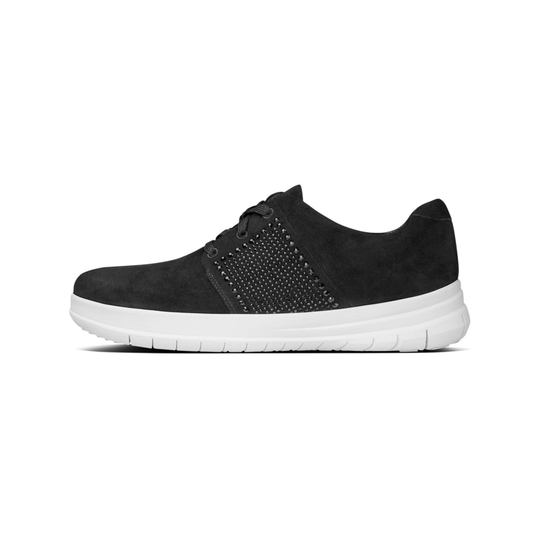 Sneaker de mujer Fitflop en negro de ante 38 EU Negro (Black 001)