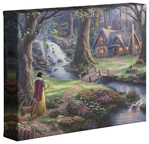 (Thomas Kinkade Disney Snow White Discovers the Cottage 8 x 10 Gallery Wrapped Canvas)