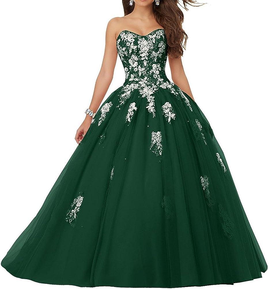 JAEDEN Damen Quinceanera Kleider mit Spitze Abendkleider Lang Hochzeitskleider Elegant Ballkleid