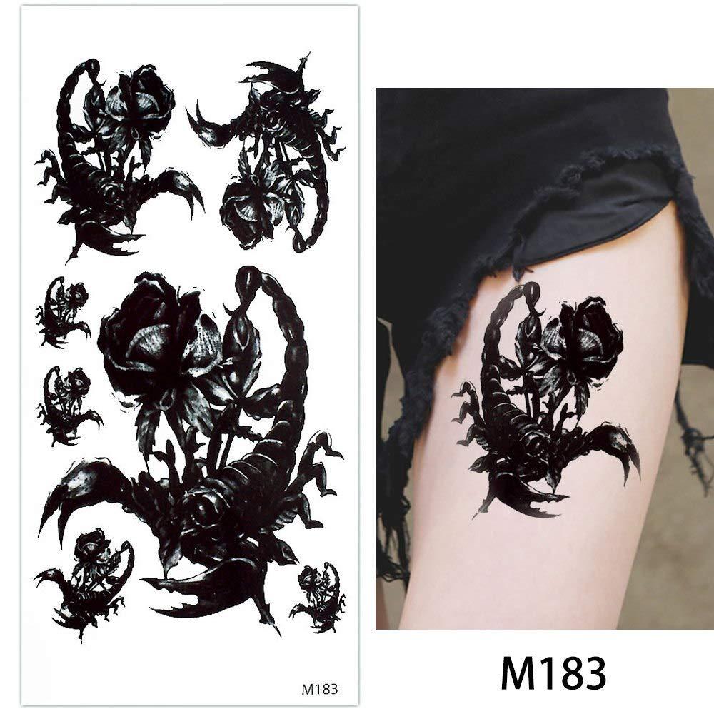 2c508f32421b7 Amazon.com : s20 1 Piece Temporary Tattoo Body Makeup Sticker Fake Dragon  Wolf Snake Decal Arm Neck Art Water Transfer Tattoo 2018 New : Beauty