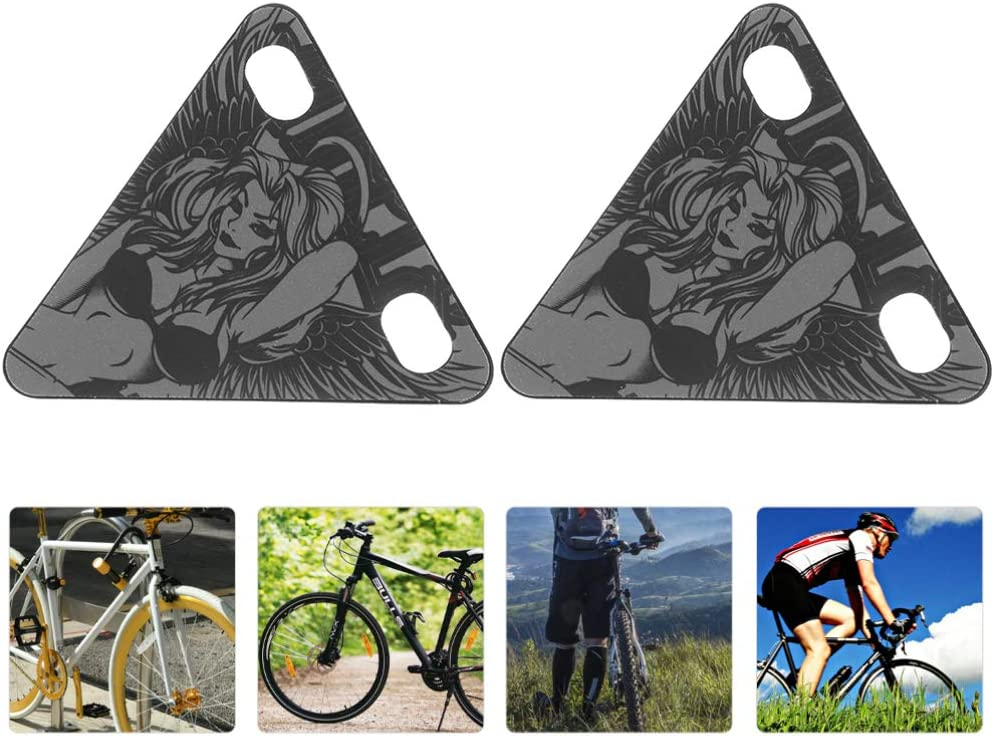 BESPORTBLE 2pcs Riding Warning Reflective Stickers Triangle Plate Magnetic Night Riding Warning Reflector Night Safety Signs for Outdoor Sport Running Cycling Riding