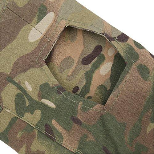 QCHENG Chemise de Combat Militaire Homme Airsoft Shirt Tenue Camouflage Uniforme Tactique Séchage Rapide à Manches… 3