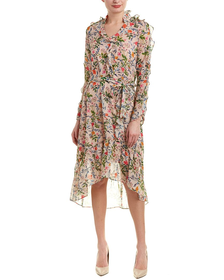 Julia Jordan Women's Floral Chiffon Maxi Dress, Pink/Multi, 8 by Julia Jordan