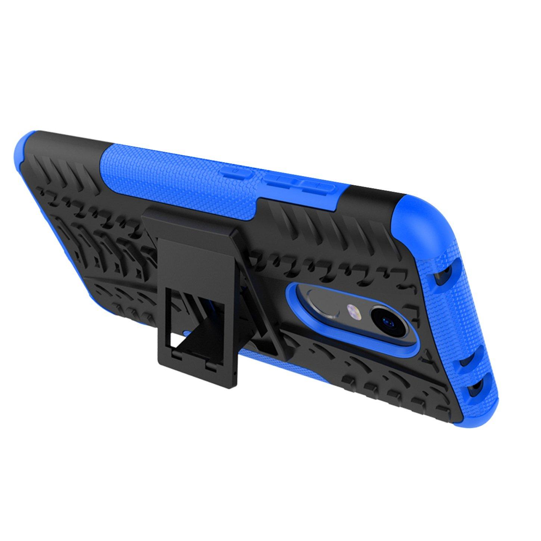 PC Carcasa Soporte plegable Desmontable Anti-Scratch Protectora Funda para Redmi 5 Plus,Rojo Tianyan Funda Xiaomi Redmi 5 Plus,H/íbrida Anti-rasgu/ños Armor Silicona TPU