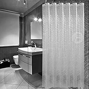 sfoothome heavy duty 100 eva 3d effect bath curtain waterproof mildew free shower. Black Bedroom Furniture Sets. Home Design Ideas