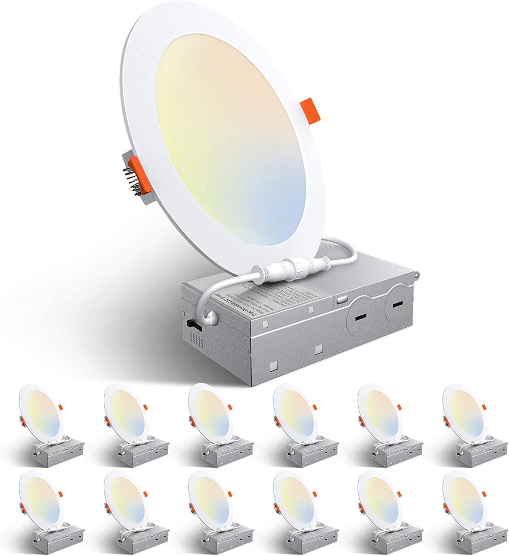 6-24W RGB LED Recessed Light Flat Panel Ceiling Down Light Ultra Slim Round Lamp