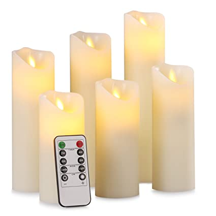 Amazoncom Pandaing 5 55 6 7 8 9 Set Of 6 Flameless Battery