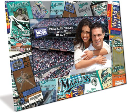 Florida Marlins Ticket Collage 4x6 Picture Frame (Baseball Ticket Wall Art)