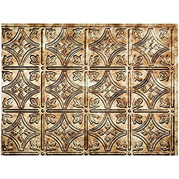 Fasade Easy Installation Traditional 1 Bermuda Bronze Backsplash Panel For Kitchen And Bathrooms 18 X 24 Panel