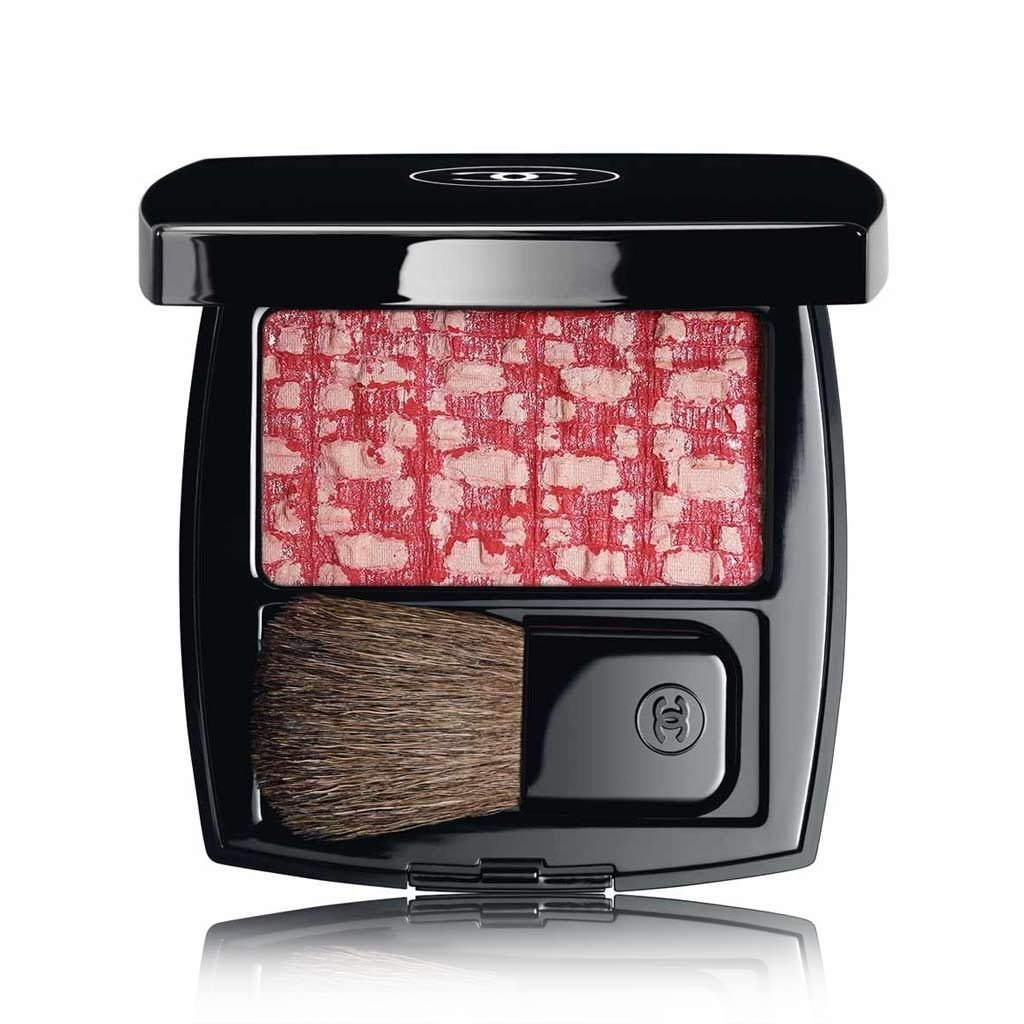 CHANEL LES TISSAGES DE CHANEL BLUSH DUO TWEED EFFECT LIMITED EDITION # 110 - TWEED CHERRY BLOSSOM